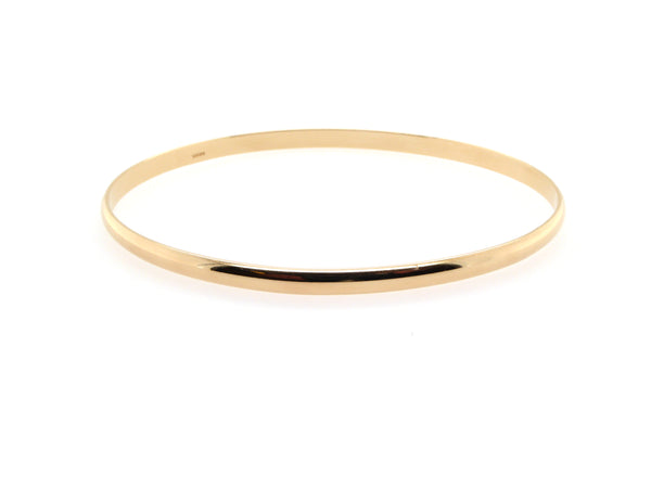 Gold D Shape Bangle (3.7mm)