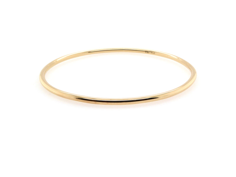 Gold Round Bangle (2.5mm)
