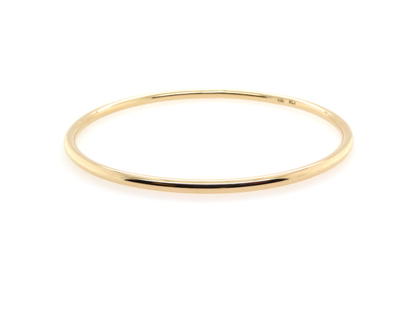 Gold Round Bangle(3mm)