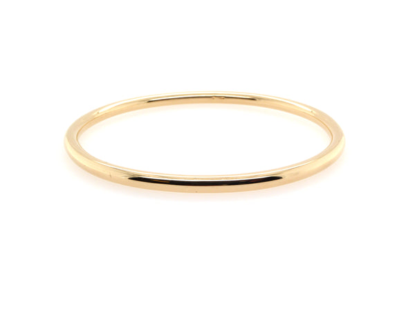 Gold Round Bangle (3.8mm)