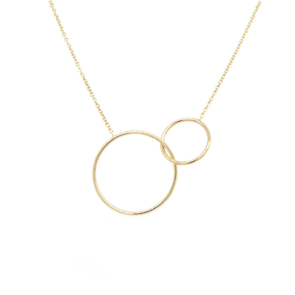 Gold Double Circle Pendant