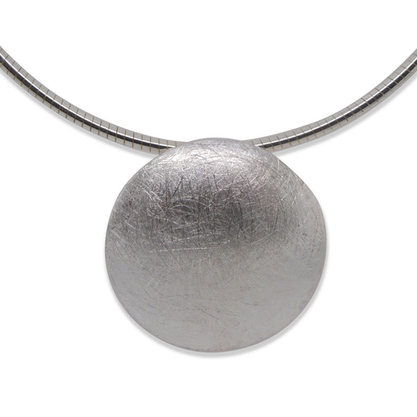 Silver Brushed Pendant