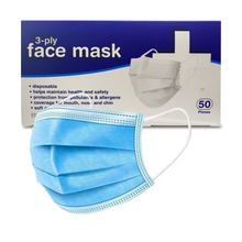 Load image into Gallery viewer, 3-ply FDA approved disposable mask 50 pack