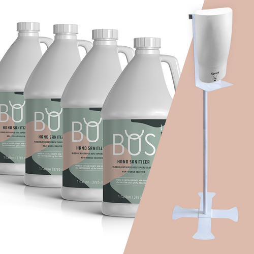 BOS Liquid Hand Sanitizer with 1 Liter standalone IR dispenser