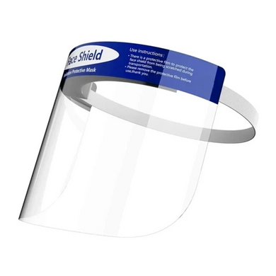 Fluid resistant protective face shield