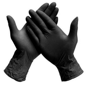 Powder-free Nitrile Gloves - Black