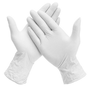 Powder-free Nitrile Gloves - White