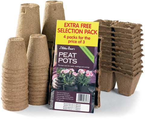 Selection pack of Peat Pots