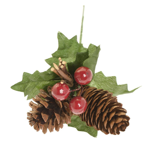 Berry, leaf and cone decoration