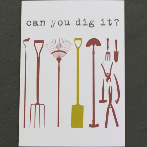 Can you dig it? Greetings card