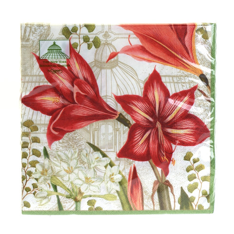 Christmas blooms ivory napkins