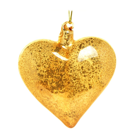 Heart of gold bauble