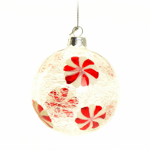 Red swirl bauble