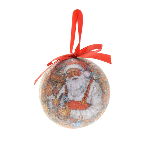 Traditional Santa paper bauble with beads