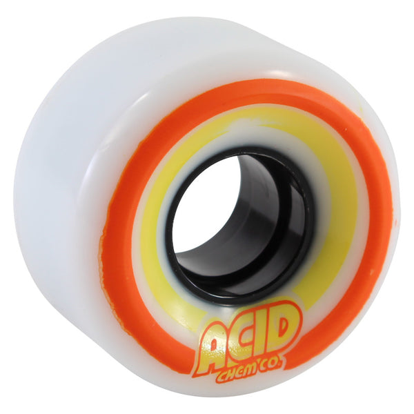 55mm 86a Acid Wheels Cruiser Pods Conicals - White