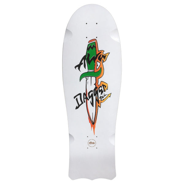 Alva Deck 1985 Dagger Tail 10 - White