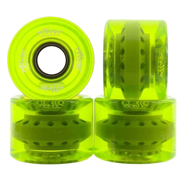 60mm 83a ALVA Wheels Cruiser - Clear Lime