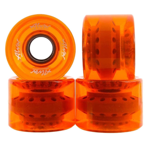 60mm 83a ALVA Wheels Cruiser - Clear Orange