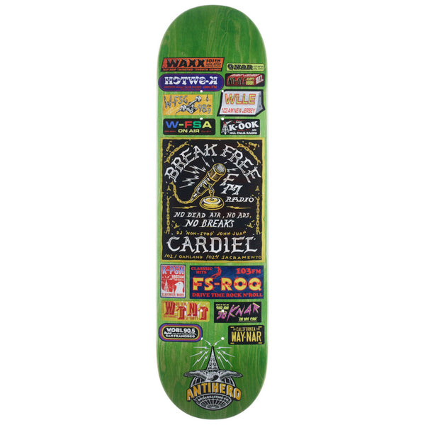Anti-Hero Deck John Cardiel Broadcasting 8.62