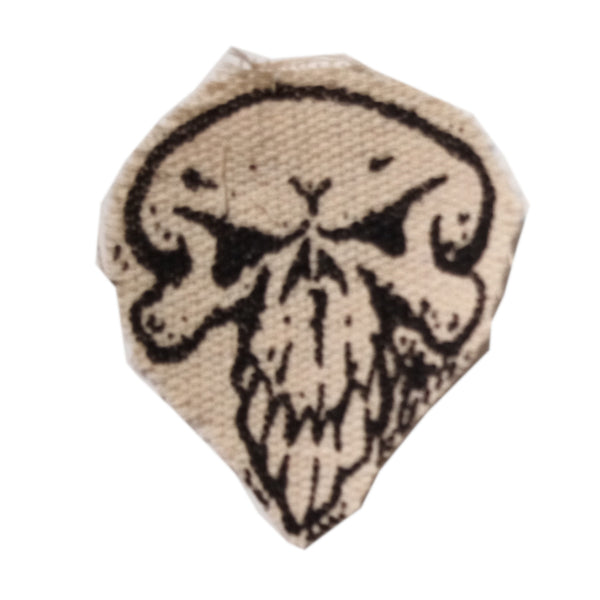 "Bill Danforth Patch Skull - 3"" X 2.5"""