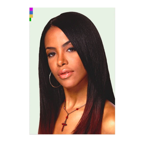 Color Bars Sticker Aaliyah Portrait - Large