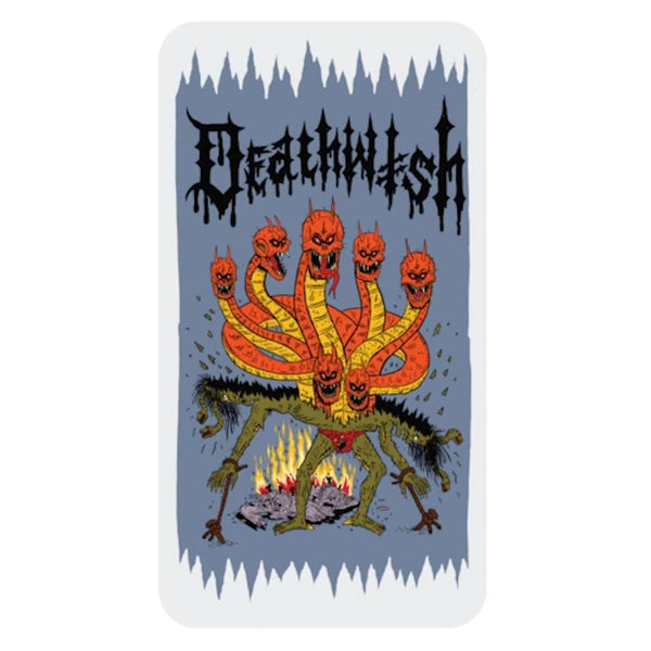 Deathwish Sticker Seven Headed Monster - Large