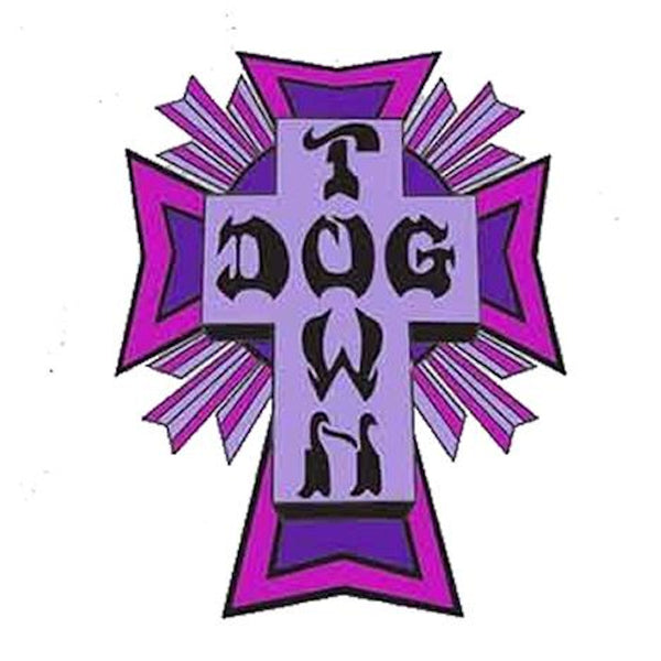 Dogtown Skates Sticker Cross Logo - Violet/Petit