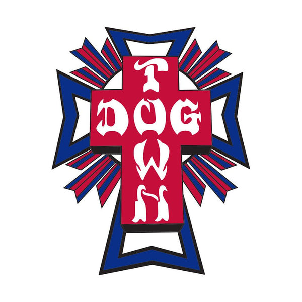 Dogtown Skates Sticker Cross Logo - USA/Petit
