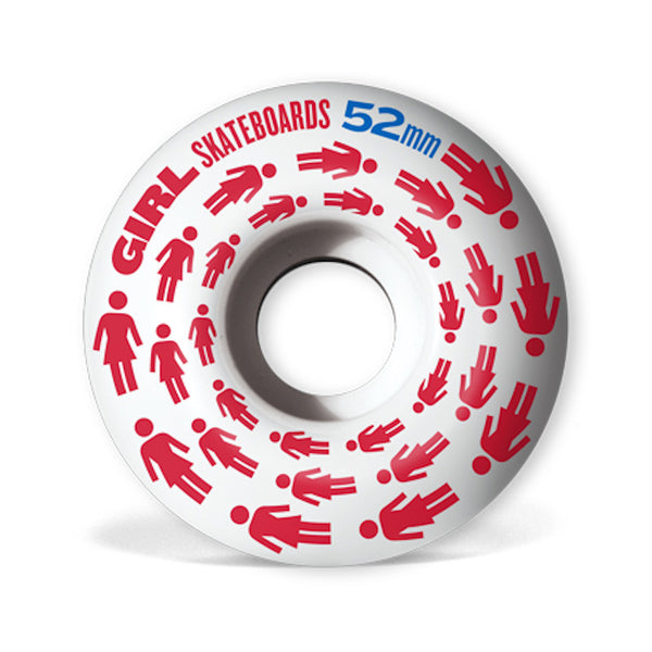 52mm 99a Girl Wheels Spiraling Staple