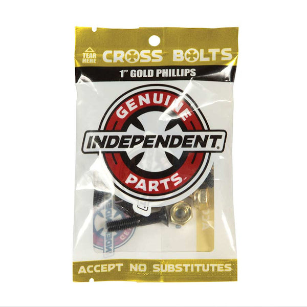 Independent Bolts Genuine Parts 1 Inch Phillips - Black/Gold