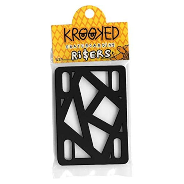 Krooked Risers 1/4 Inch - Black