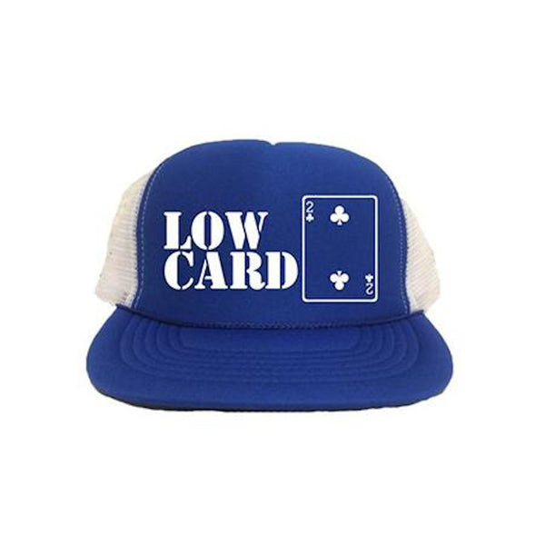 Lowcard Cap 2 Card (Mesh Trucker) - Royal/White