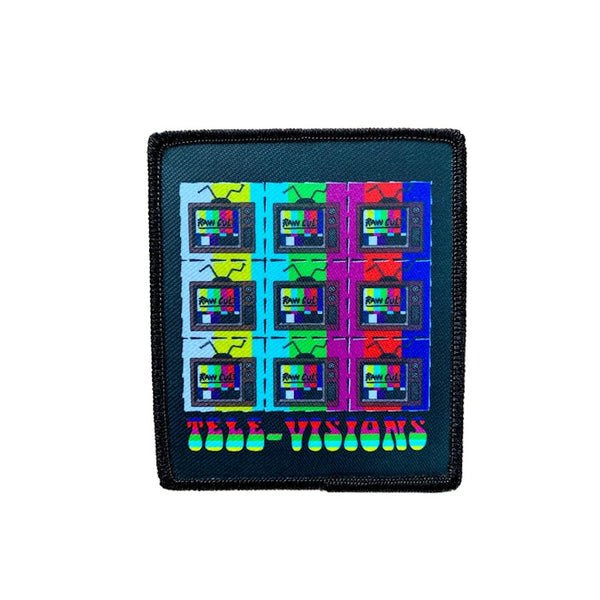"RAW CULT Patch Tele-Visions LSD - 3.5"" X 3"""