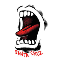 Santa Cruz Sticker Screaming Mouth - Blanc/Petit