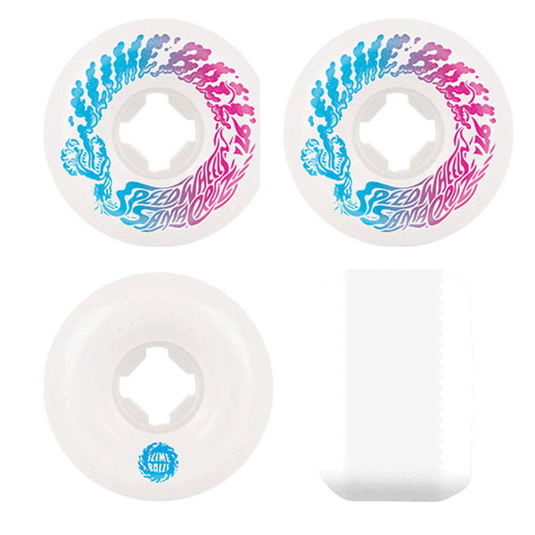 54mm 97a Slime Balls Wheels Vomit Mini - Blanc