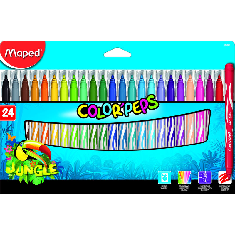 Carioca Maped colorpeps 24/set jungle