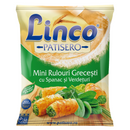 Linco Patisero Greek mini rolls with spinach and greens 500g
