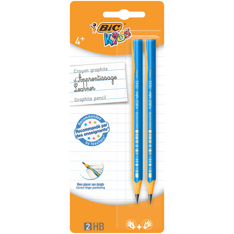 Creioane HB grafit BIC Kids Evolution, 2 bucati