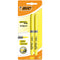 Evidentiator BIC Highlighter Grip, varf tesit, galben, 2 culori