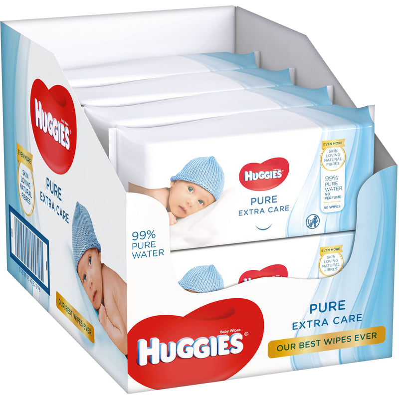 Servetele umede Huggies Pure Extra Care 56 buc