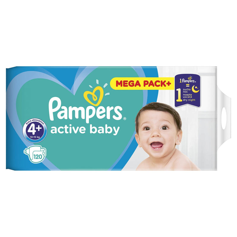 Scutece Pampers Active Baby 4+  Mega Box 120 buc
