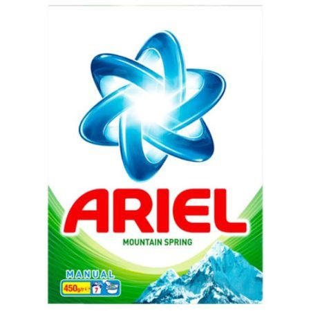Detergent rufe, manual Ariel MOUNTAIN SPRING ,450g