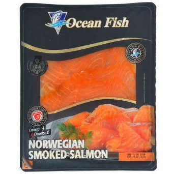 Ocean Fish somon file afumat 150g