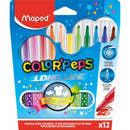 Carioca Maped colorpeps 12/set Long Life