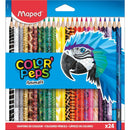 Creioane colorate color'peps Maped 24/set Animals