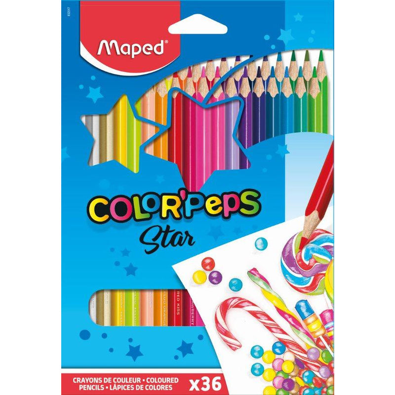 Creioane colorate colorpeps Maped 36/set Star