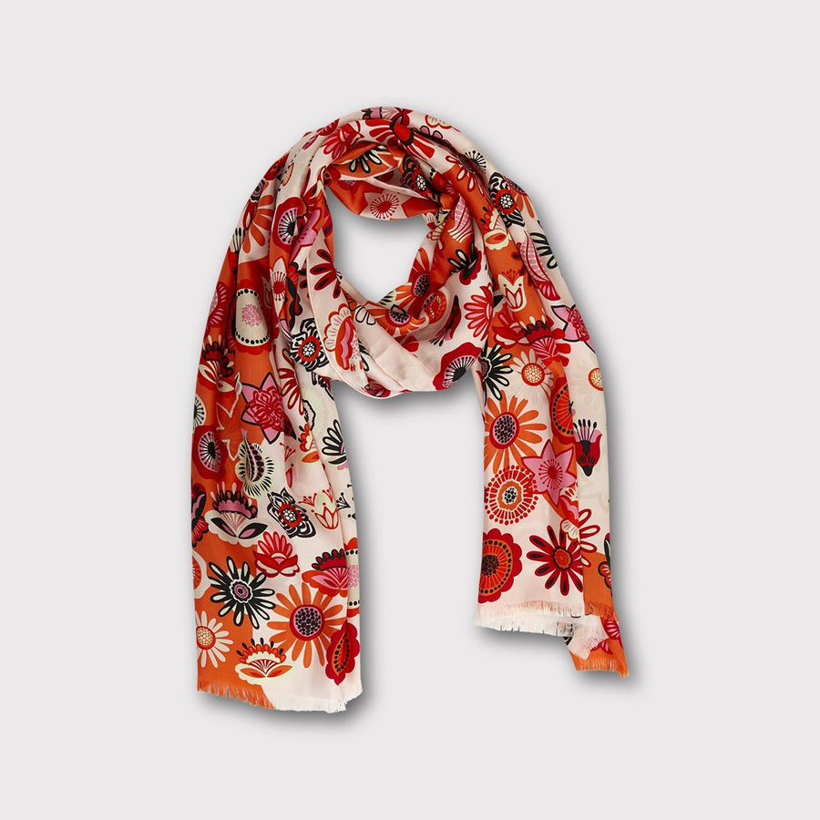 RETRO FLOWER Scarf