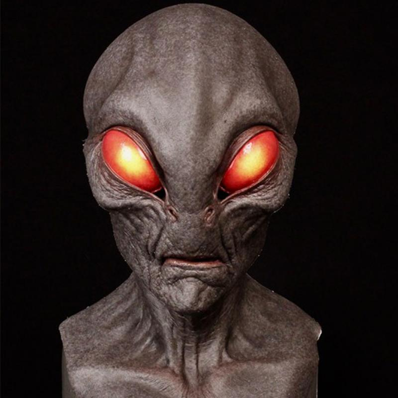 🔥Halloween Alien Natural Silicone Mask👽