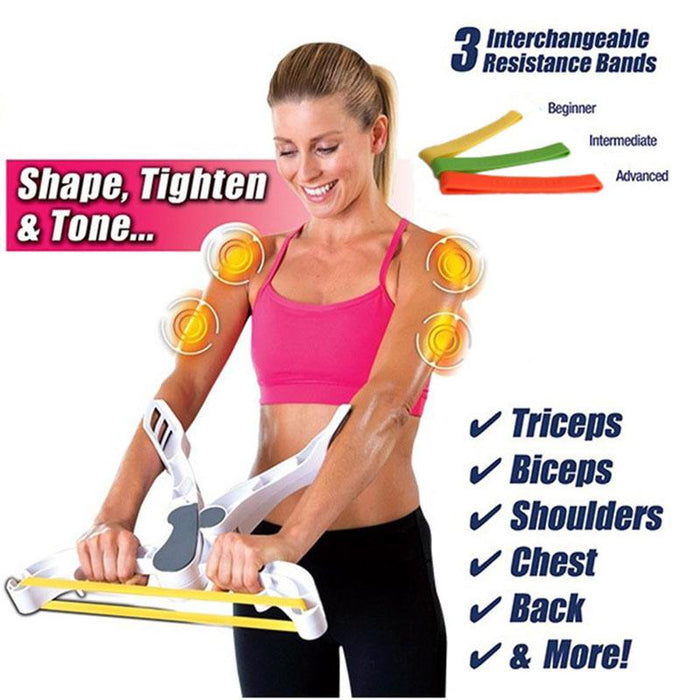 Wonder Arms Total Workout System Resistance Training Exercise Bands