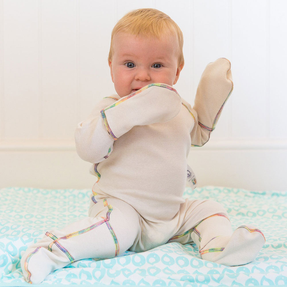 Eczema Scratch Mitten PJ Eco-Organic from Pure Cotton Comfort